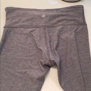 "Lululemon 23"" grey leggings"
